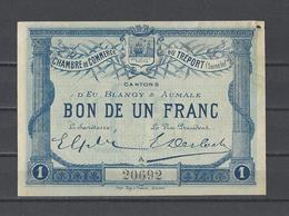 Chambre De Commerce Du TREPORT  Billet De 1.00F - Chamber Of Commerce