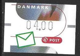Denmark Danmark Dänemark 2000 ATM Franking Labels Vignettes D'Affranchissement Michel No. 11 4,00 MNH Neuf Postfrisch ** - ATM/Frama Labels