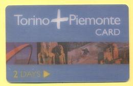 TORINO - Piemonte Card - 2008 - Adulti - Ingresso Forfettario Per 2 Giorni - Biglietti D'ingresso