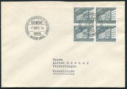 1955 Switzerland Conférènce Pour L'utilisation Pacifique De L'Energie Atomique Atome Geneve Cover - Switzerland