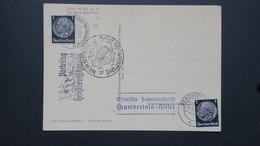 Carte Propagande Portrait De Hitler Au Verso Cachet De La Rencontre Avec Chamberlain Berchtesgaden 15 Sept. 1938 - WW II