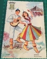 Embroidered ~ Cidade Do Funchal ~ Madeira Par De Danca ~ Artist Signed - Madeira