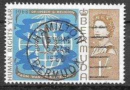 1968 1sh Human Rights, Used - Bermuda