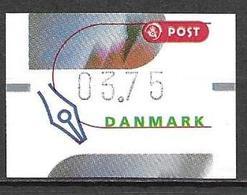 Denmark Danmark Dänemark 2000 ATM Franking Labels Vignettes D'Affranchissement Michel No. 12 3,75 MNH Neuf Postfrisch ** - ATM/Frama Labels