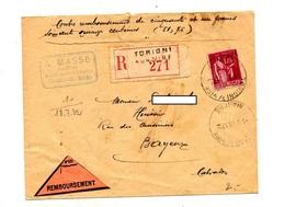 Lettre Recommandee Contre Remboursement Torigny Sur Paix - Marcophilie (Lettres)