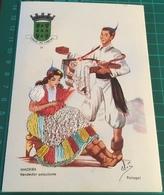 Embroidered ~ Cidade Do Funchal ~ Madeira Vendedor Ambulante ~ Artist Signed - Madeira