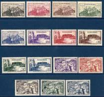 """Fezzan YT 28 à 42 """" Sites """" 1946 Neuf** - Fezzan (1943-1951)"""