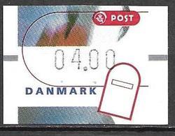 Denmark Danmark Dänemark 2000 ATM Franking Labels Vignettes D'Affranchissement Michel No. 13 4,00 MNH Neuf Postfrisch ** - ATM/Frama Labels