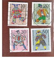GERMANIA (GERMANY) - SG 1559.1562   - 1970  HUMANITARIAN RELIEF FUND: PUPPETS (COMPLET SET OF 4)   -  USED° - Usati