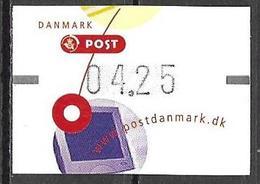 Denmark Danmark Dänemark 2001 ATM Franking Labels Vignettes D'Affranchissement Michel No. 14 4,25 MNH Neuf Postfrisch ** - ATM/Frama Labels