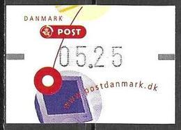 Denmark Danmark Dänemark 2001 ATM Franking Labels Vignettes D'Affranchissement Michel No. 14 5,25 MNH Neuf Postfrisch ** - ATM/Frama Labels