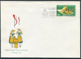 1955 Switzerland Vevey Fete Des Vignerons Wine Cover - Switzerland