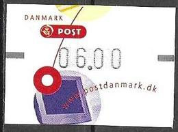 Denmark Danmark Dänemark 2001 ATM Franking Labels Vignettes D'Affranchissement Michel No. 14 6,00 MNH Neuf Postfrisch ** - ATM/Frama Labels