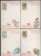"CHINA TAIWAN ""ROCUPEX 2001 LU-KANG STAMP EXHIBITION,"" DOMESTIC POSTAL CARDS SET OF 4 - 1945-... République De Chine"