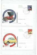 DIV1 - SLOVENIE 2 CARTES POSTALES THEME AUTOMOBILE OBLITEREES - Slovenia