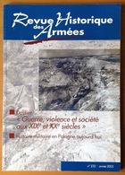 REVUE HISTORIQUE DES ARMEES 2003 Numero 232 - Documentos