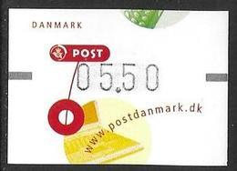 Denmark Danmark Dänemark 2001 ATM Franking Labels Vignettes D'Affranchissement Michel No. 15 5,50 MNH Neuf Postfrisch ** - ATM/Frama Labels