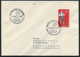 1955 Switzerland INTERLAKEN UNSPUNNEN Alpinefest Cover - Switzerland