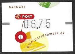 Denmark Danmark Dänemark 2001 ATM Franking Labels Vignettes D'Affranchissement Michel No. 15 6,75 MNH Neuf Postfrisch ** - ATM/Frama Labels