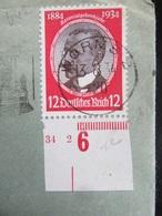 Brief Mit Briefmarke Carl Peters Mi. 542 Mit Randstück 1934 - Briefe U. Dokumente