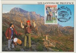 CARTE-MAXIMUM France N° Yvert 2978 (SANTONS)  Obl Sp Ill Champtercier (Ed As De Coeur ST52) - 1990-99