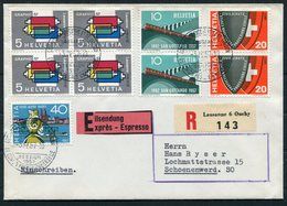 1957 Switzerland LAUSANNE SESSION 1.VI.57 COMISSION EXECUTIVE ET DE LIAISON DE L'UPU Registered Express Cover - Switzerland