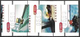 Denmark Danmark Dänemark 2002 ATM Franking Labels Vignettes D'Affranchissement Michel No. 17-19 MNH Neuf Postfrisch ** - ATM/Frama Labels
