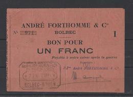 Bon Nécessité  BOLBEC  Bon De 1.00F - Bonds & Basic Needs