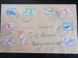 R-Brief Olympiade Satz 1936 Nach Tschechien CSR - Allemagne
