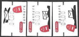 Denmark Danmark Dänemark 2003 ATM Franking Labels Vignettes D'Affranchissement Michel No. 20-22 MNH Neuf Postfrisch ** - ATM/Frama Labels
