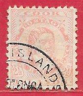 Cook (îles) N°8C 2,5p Rose (dentelé 11) 1893 (RAROTONGA) O - Cook Islands