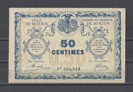 Chambre De Commerce De ROUEN  Billet De 50c - Cámara De Comercio