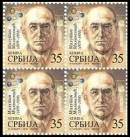 Serbia 2019 Milutin Milankovic, Definitive Stamp, Block Of 4, MNH - Serbia