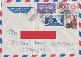 Aerogramma Diretto In Kenia Da Torino - 1951 - Montecassino - Sardo - Perugino - Levante - 6. 1946-.. Repubblica