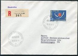 1958 Switzerland Geneva Registered Cover. 2nd Conference Atomique Genéve - Switzerland
