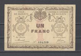 Chambre De Commerce De ROUEN  Billet De 1.00F - Chamber Of Commerce