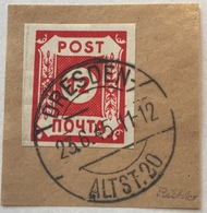 """SBZ Ost-Sachsen 12 Pf """"POTSCHTA"""" 1945 Mi. B Ib (ex 41) Gestempelt Geprüft Richter (Russia Russie Sowjetische Zone - Zone Soviétique"""