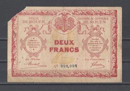 Chambre De Commerce De ROUEN  Billet De 2.00F - Cámara De Comercio