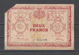 Chambre De Commerce De ROUEN  Billet De 2.00F - Chamber Of Commerce