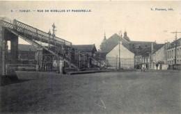Belgique - Tubize - Rue De Nivelles Et Passerelle - Tubize