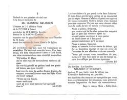D 762. GASTON NELISSEN - °VORST 1908  / +KNOKKE 1970 - Images Religieuses