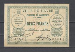Chambre De Commerce Du HAVRE Billet De 2.00F - Cámara De Comercio