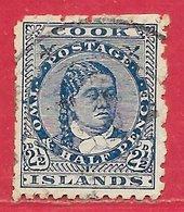 Cook (îles) N°19 2,5p Bleu (sans Filigrane 1901 O - Cook Islands