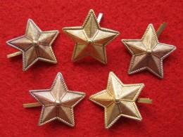 Lot De 5 étoiles En Laiton Avec Pattes Repliables Pour Fixation, Taille De Pointe à Pointe 2 Cm - Francia