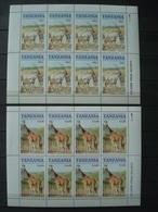 TANZANIA 12 MINISHEETS+ 4 SETS MNH** 6 SCANS - Tanzania (1964-...)