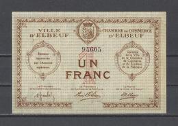 Chambre De Commerce D'ELBEUF  Billet De 1.00F - Chamber Of Commerce