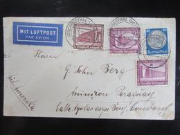 Luftpostbrief 1937 Nach Paraguay! Mi. 640 642 - Briefe U. Dokumente