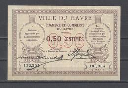 Chambre De Commerce Du HAVRE  Billet De 50c - Chamber Of Commerce