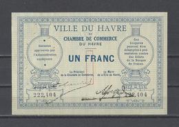 Chambre De Commerce Du HAVRE  Billet De 1.00F - Chambre De Commerce