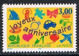 """FRANCE : N° 3046 ** (""""Joyeux Anniversaire"""") - PRIX FIXE : 1/3 De La Cote - - Unused Stamps"""